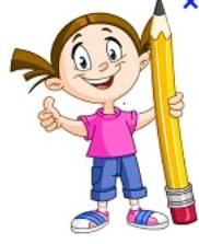 fille crayon